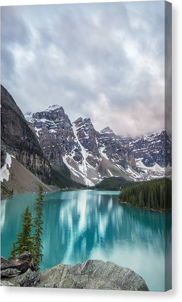 Moraine In The Summer Canvas Print