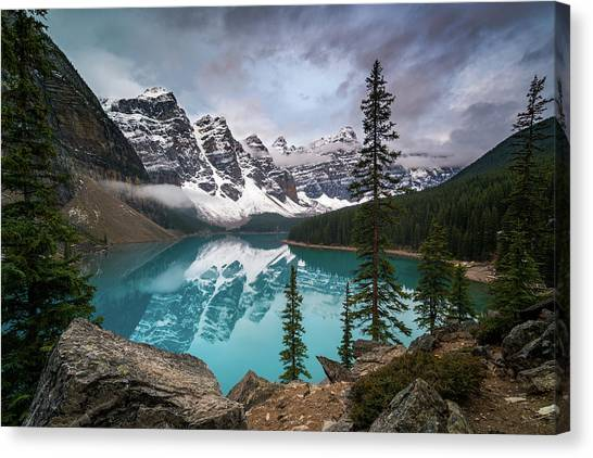 Moraine Lake In The Canadaian Rockies Canvas Print