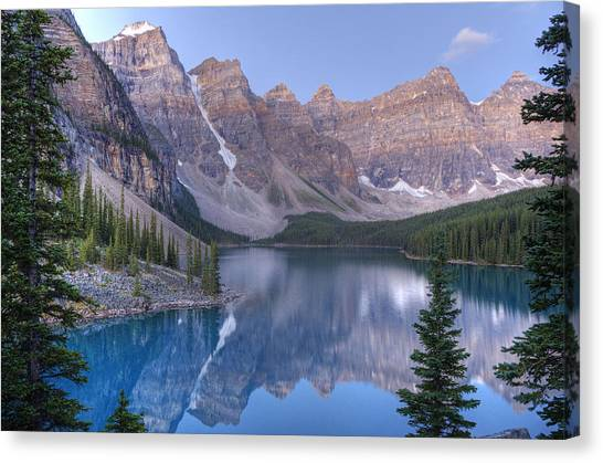 Moraine Lake - Valley Of The Ten Peaks Canvas Print