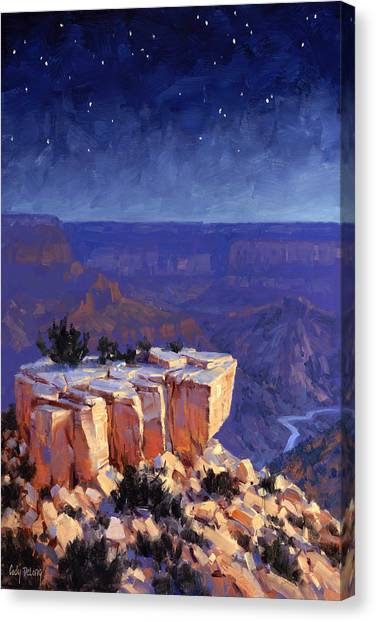 Canyon Canvas Print - Moran Nocturne by Cody DeLong