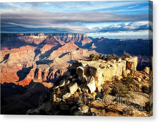 Canvas Print featuring the photograph Moran Point 2 by Scott Kemper
