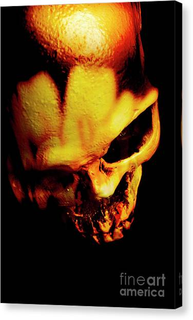 Skeletons Canvas Print - Morbid Decaying Skull by Jorgo Photography - Wall Art Gallery