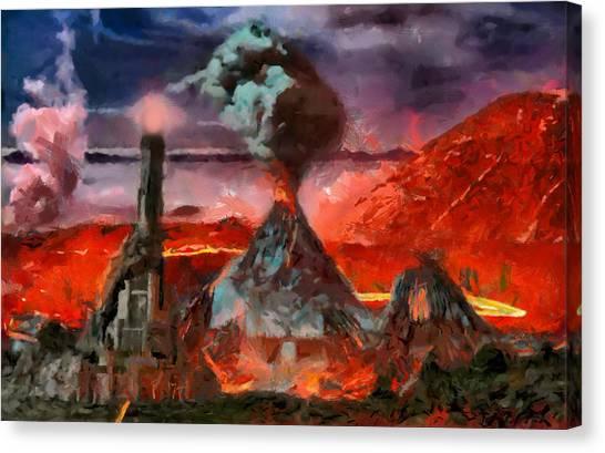 Mordor Panorama Canvas Print
