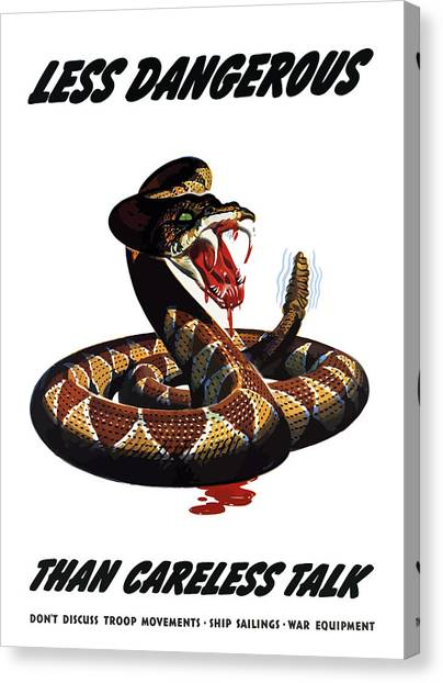 Rattlesnakes Canvas Print - More Dangerous Than A Rattlesnake - Ww2 by War Is Hell Store