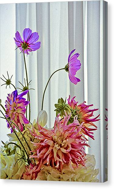 More Formal Flowers Canvas Print by John Toxey
