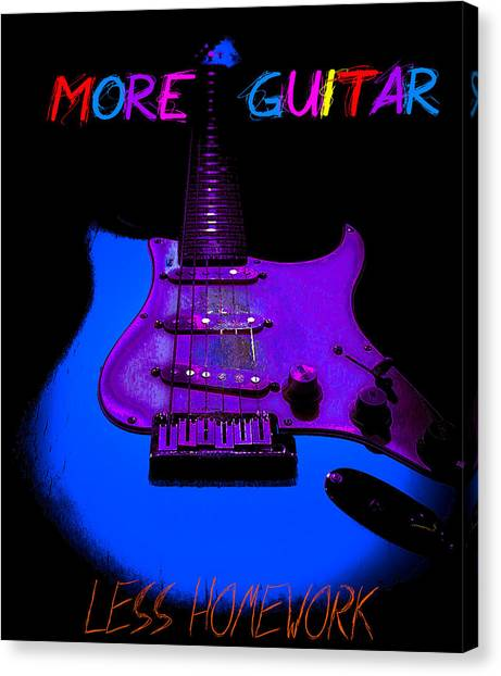 More Guitar Less Homework Canvas Print