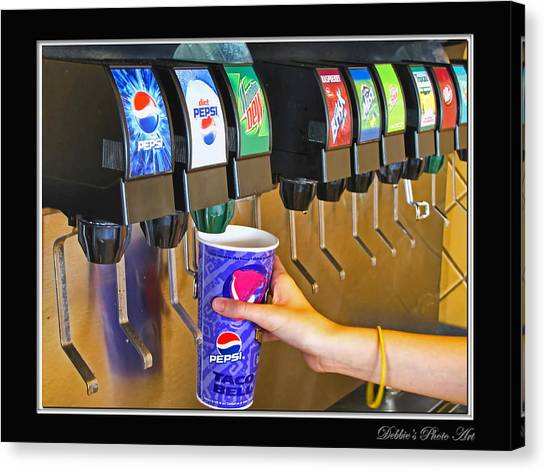 Mountain Dew Canvas Print - More Ice Please by Debbie Portwood