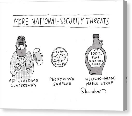 More National-security Threats Canvas Print