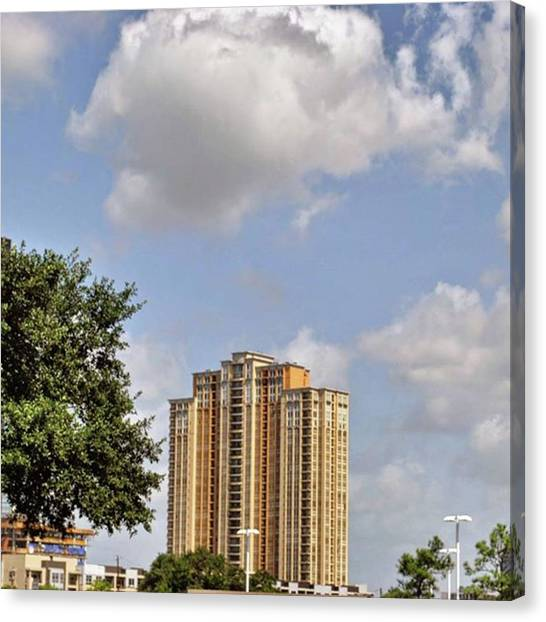Houston Skyline Canvas Print - More Pictures From Houston... #travel by Cheray Dillon