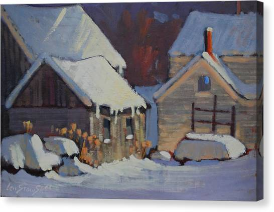 More Snow Predicted Canvas Print by Len Stomski