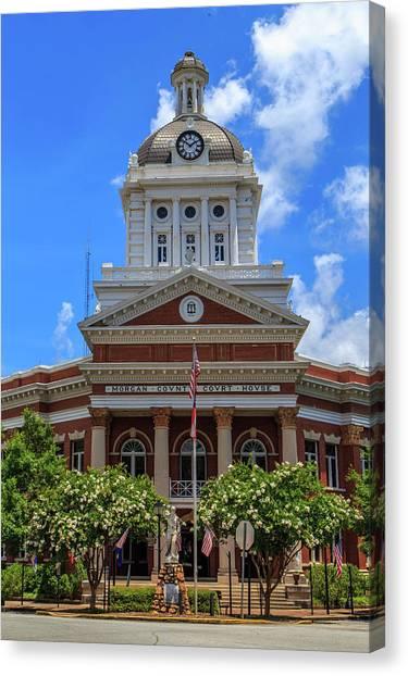 Canvas Print featuring the photograph Morgan County Court House by Doug Camara
