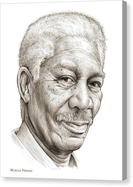 Driving Canvas Print - Morgan Freeman by Greg Joens