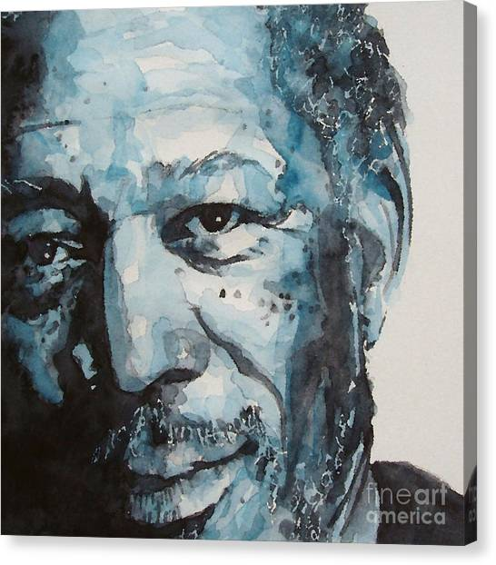 Morgan Freeman Canvas Print by Paul Lovering