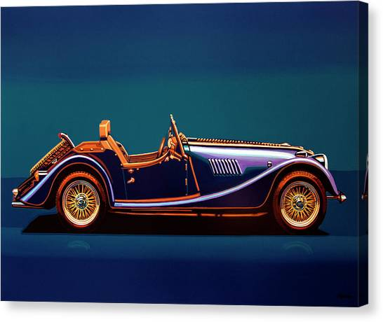 Detroit Canvas Print - Morgan Roadster 2004 Painting by Paul Meijering