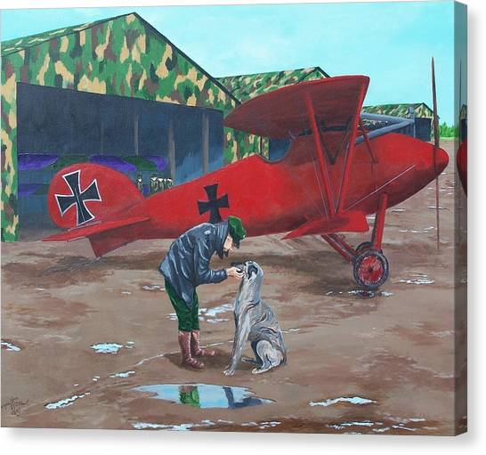 Moritz And Richthofen Canvas Print by Gene Ritchhart