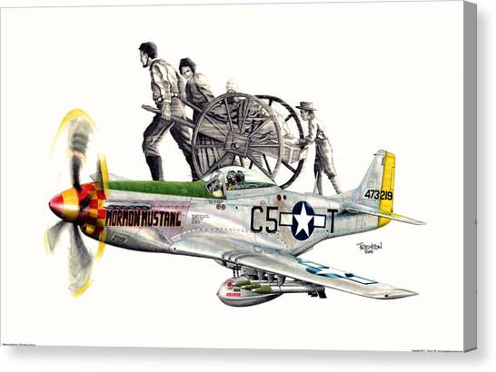Mormon Mustang - Pioneering History Canvas Print by Trenton Hill