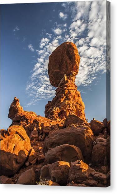 Morning At Balance Rock Canvas Print