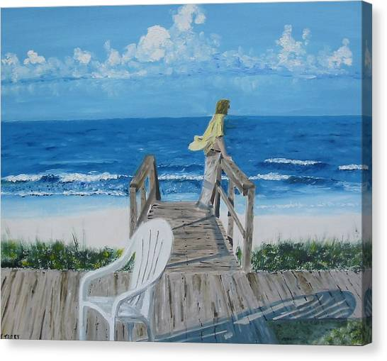 Morning At Blue Mountain Beach Canvas Print by John Terry