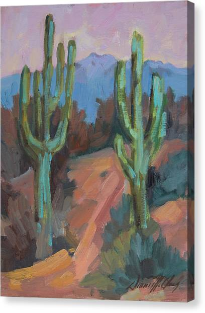 Sonoran Desert Canvas Print - Morning At Fort Apache by Diane McClary