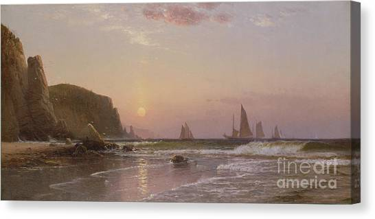 New Brunswick Canvas Print - Morning At Grand Manan by Alfred Thompson Bricher