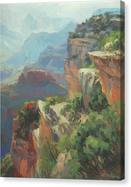 Brush Canvas Print - Morning At Hopi Point by Steve Henderson