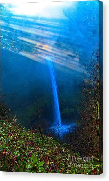 Franklin D. Roosevelt Canvas Print - Morning At South Falls by Jon Burch Photography