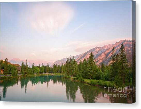 Sunrise Horizon Canvas Print - Morning At The Lake by Paul Quinn