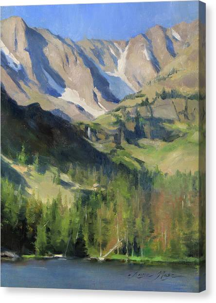 Colorado Rockies Canvas Print - Morning At The Loch by Anna Rose Bain