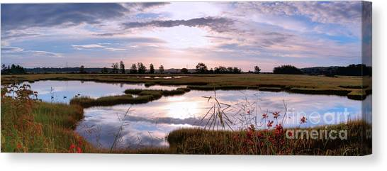 Morning At The Marsh Canvas Print