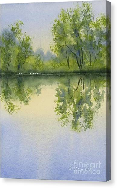 Morning At Turtle Pond Canvas Print