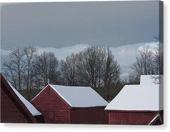 Morning Barnscape Canvas Print