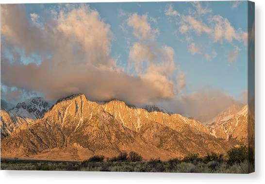 Sunrise Horizon Canvas Print - Morning Blush by Loree Johnson