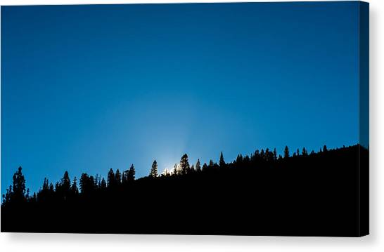 June Lake Canvas Print - Morning Breaks by Joseph Smith
