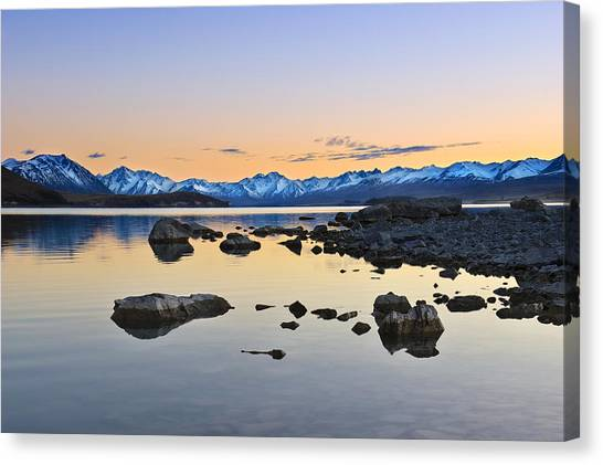 Morning By The Lake Canvas Print