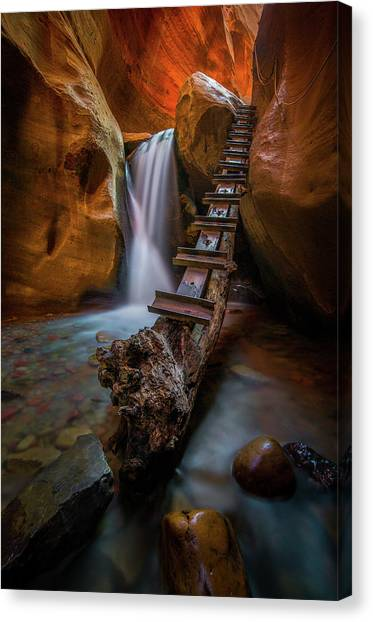 Canvas Print featuring the photograph Morning Canyon Glow // Kanarra Falls, Utah by Nicholas Parker