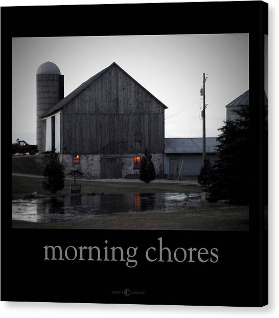 Morning Chores Canvas Print