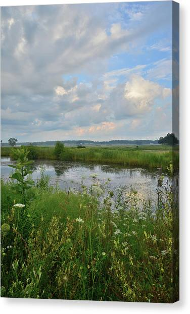 Prairie Sunrises Canvas Print - Morning Clouds In Glacial Park by Ray Mathis