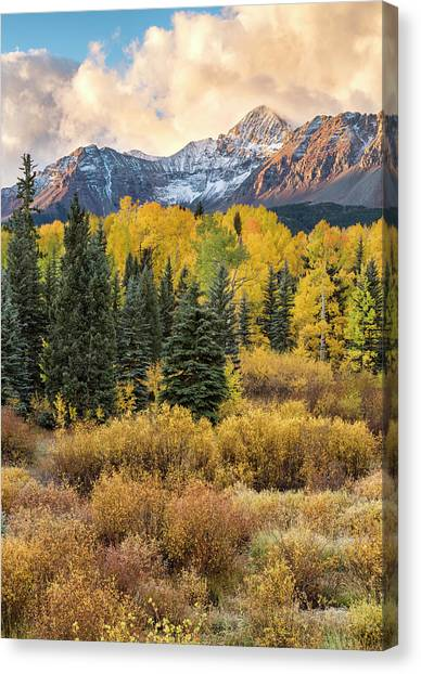 Morning Clouds, Wilson Peak Canvas Print