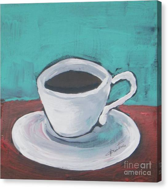 Morning Canvas Print - Morning Coffee by Vesna Antic