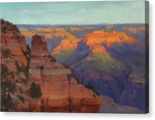 Canyon Canvas Print - Morning Color - Yaki Point by Cody DeLong