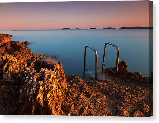 Canvas Print featuring the photograph Morning Colors by Davor Zerjav
