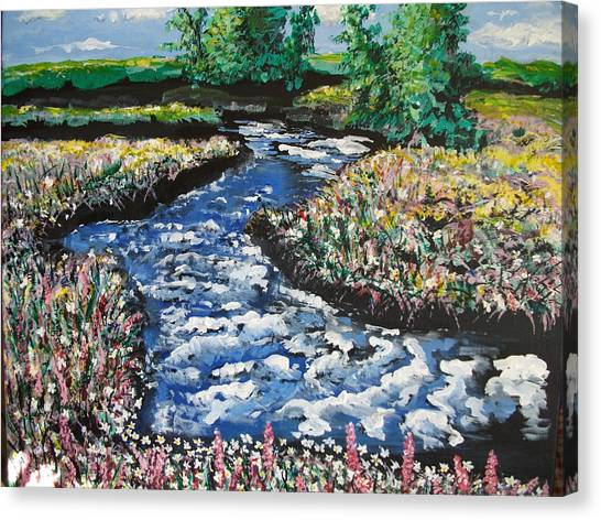 Morning Creekside Canvas Print
