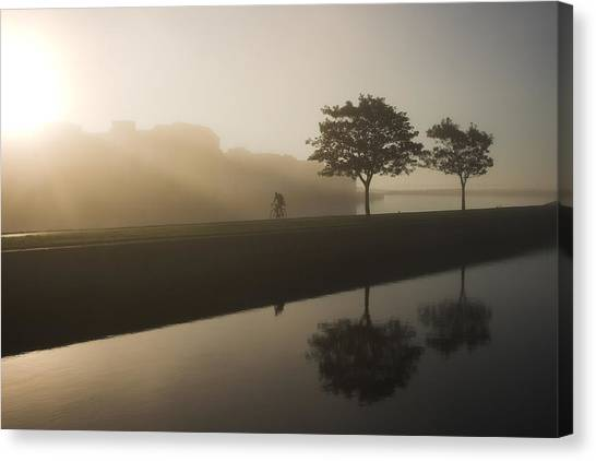 Morning Cycle Galway Ireland Canvas Print