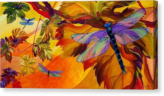 Grapes Canvas Print - Morning Dawn by Karen Dukes
