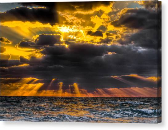 Delray Canvas Print - Morning Drama by Debra and Dave Vanderlaan