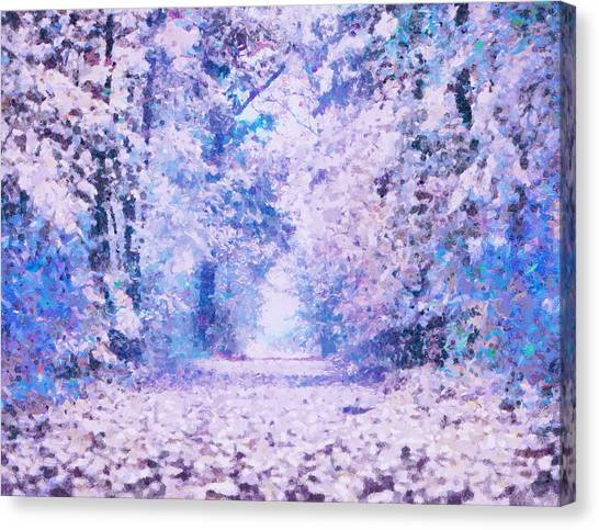 Woodland Canvas Print - Morning Fantasy Forest Impressions by Isabella Howard