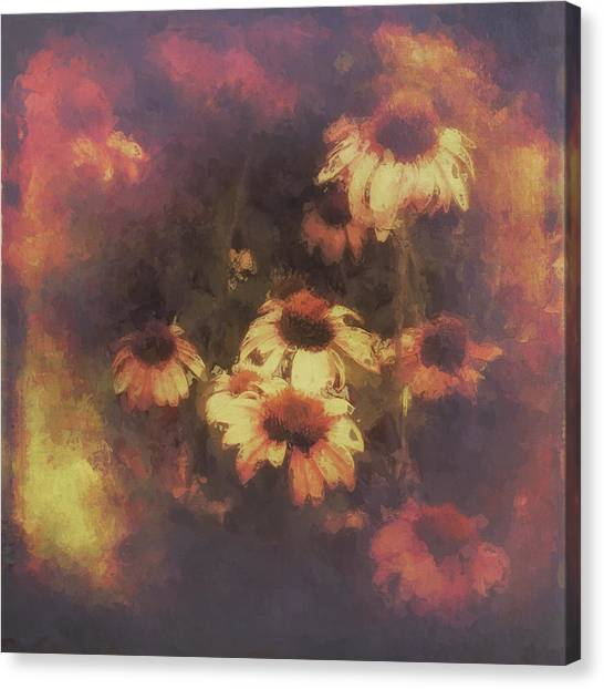Morning Fire - Fierce Flower Beauty Canvas Print