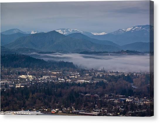 Morning Fog Over Grants Pass Canvas Print
