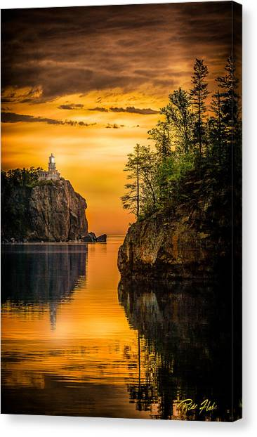 Morning Glow Against The Light Canvas Print