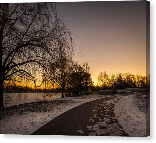 Morning Glow Along Hoyt Lake Canvas Print